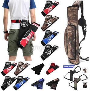 Adjustable-Archery-Arrow-Holder-3-Tube-Bag-Back-Side-Waist-Quiver-Hunting-L7