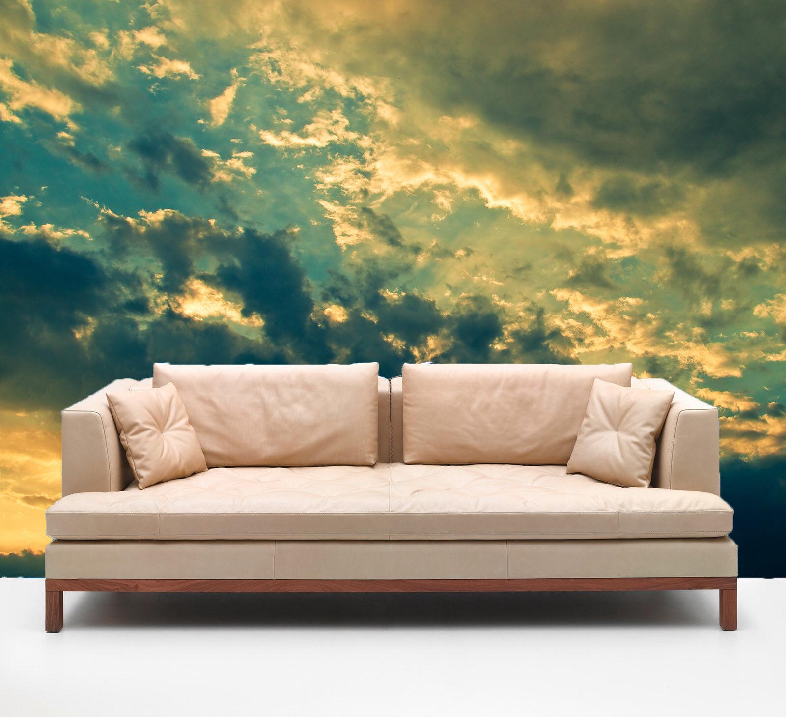 3D Dunkle Wolken 858 Tapete Wandgemälde Tapete Tapeten Bild Familie DE Summer