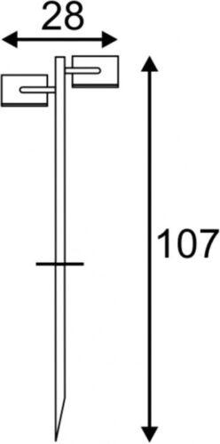 2xGX53 max anthrazit IP44 SLV SITRA 360 SL SPIKE 9W