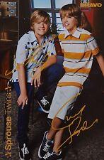 Sprouse Twins-autografiada mapa-Cole Dylan signed Autograph autógrafo recortes