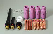TIG Collet Body TIG Alumina Nozzle TIG Back Cup Kit Fit SR WP-17 18 26  16pcs