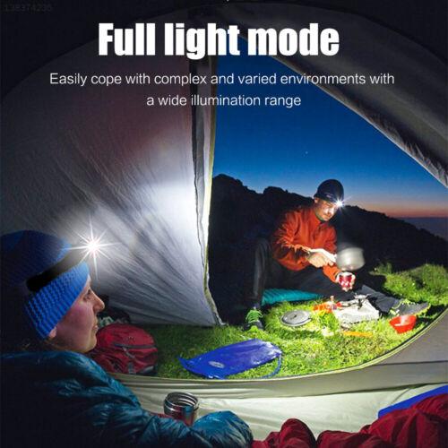 WaterResistant Headlamp Rechargeable Headlight Head Torch Lamp Running Hiking