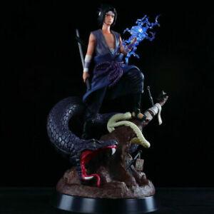 NEW-Anime-NARUTO-Uchiha-Sasuke-Burning-Wind-32cm-GK-Statue-PVC-Figure-Loose