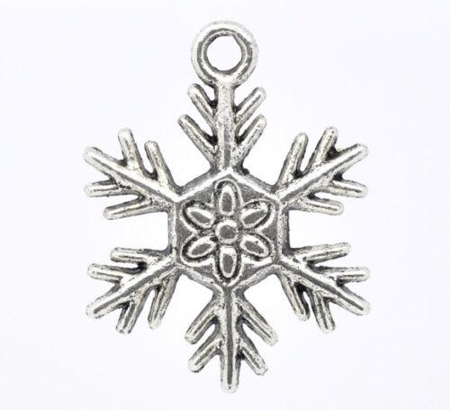 Pendentifs Charms Flocon de neige Noël M0299