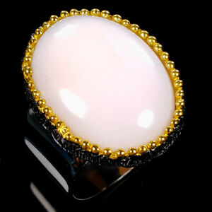 Vintage-Natural-Pink-Opal-925-Sterling-Silver-Ring-Size-8-R112083