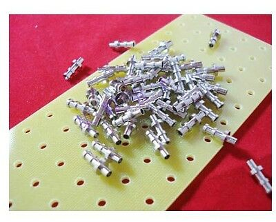 50pcs Turret Lug 11.6mm Overall Length 2.6mm Diameter for 3mm Terminal Board AMP