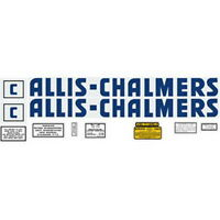 C Allis Chalmers Tractor Complete Blue Letter Decal Set High Quality Decals