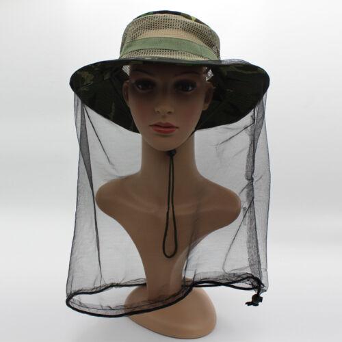 Beekeeping Hat Mask Protector Cap Mosquito Bee Net Veil Face Head Mesh Net Cap