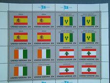 UNO New York ,Vereinte Nationen, Flag Series,Flaggenserie , postfrisch , 1988