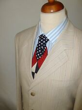 JAN PAULSEN  CREAM LINEN  BLEND  STRIPPED  BLAZER  SZ UK 40 55% LINEN 45% COTTON