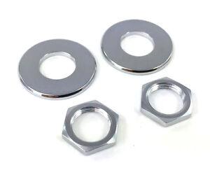 (2) Schaller écrous/rondelles Pour Chrome Strap Lock Set/sécurité Verrous Ap-6691-010-afficher Le Titre D'origine Avec Des MéThodes Traditionnelles