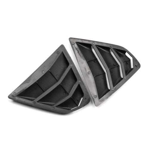 Carbon Fiber Black Rear Window Louver Shutter Cover 2pcs For Toyota Camry 18-19
