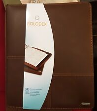 Rolodex Rol22337 Business Card Binder With Card Pocket Pages Amp A Z Dividers