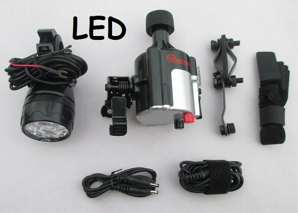 Wind'n go Bicycle  Generator Led Light Kit  New.  cost-effective
