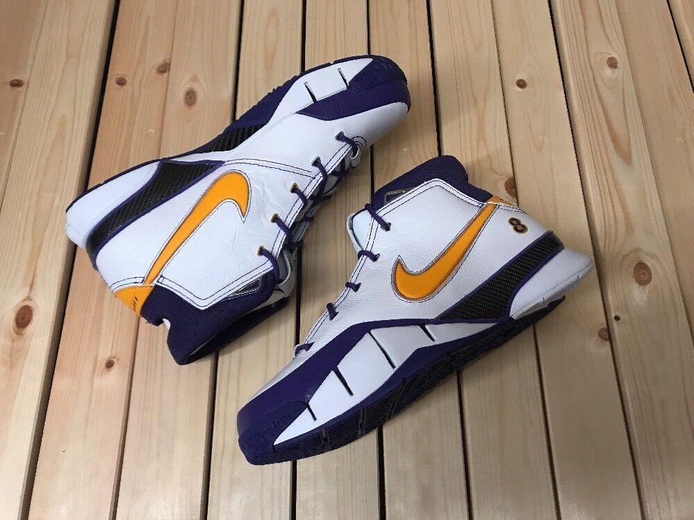 Nike Kobe 1 Protro Final secondes Lakers Basketball Chaussures UK 11 EU 46 AQ2728 101-
