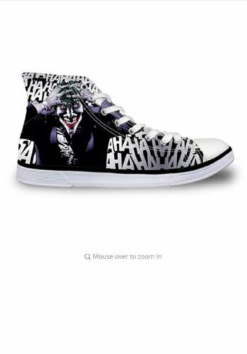 THE JOKER Style 2 High Top Canvas Sneakers Athletic Shoes