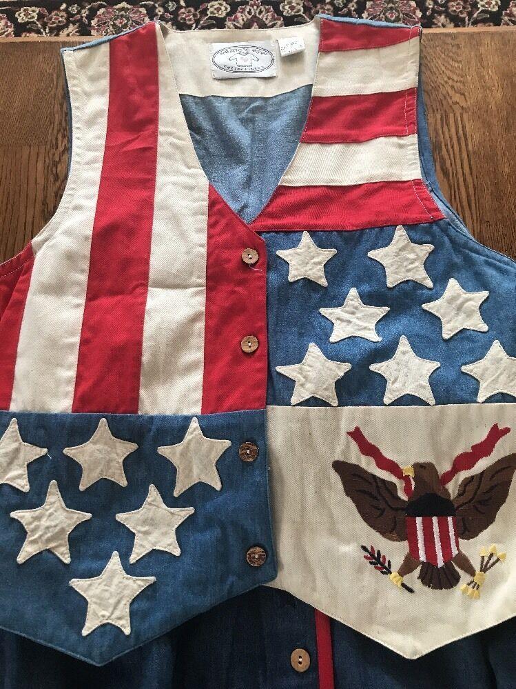 EAGLE'S EYE Medium Collectibles Vest & Skirt Skirt Skirt Cotton American Flag (RS) 256c77