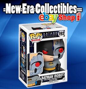 Batman robot la série animée Pop Heroes Vinyl Figure #193 Chase avec protecteur