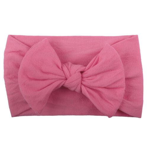 Baby Kids Cute Bow Knot Headband Retro Hair Ribbon Childrens Girls Boys Headwear