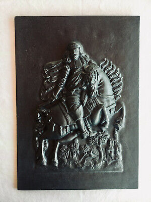 Georg Im Relief Schwäbische Hüttenwerke Shw 3kg 35x25cm Pleasant To The Palate Gussplatte Heiliger St Gusseisen