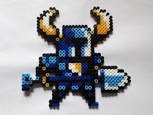 Details About Chevalier Shovel Knight Bead Sprite Perler Pixel Art Ironing Beads Show Original Title