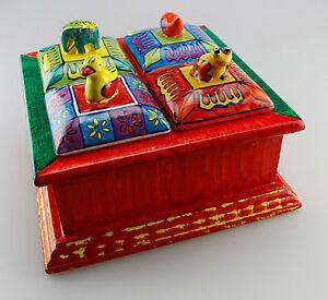 box kasten mit 4 f chern und deckeln elefant frosch ente fisch gall zick. Black Bedroom Furniture Sets. Home Design Ideas