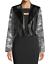 thumbnail 3 - RACHEL ROY NWT $139 Charlie Moto Jacket in Gray Floral & Black, Size M     BB32