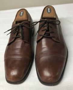 Bally-Mens-Rogers-Brown-Leather-Cap-Toe-Oxford-Dress-Shoe-Size-11D-Made-in-Italy