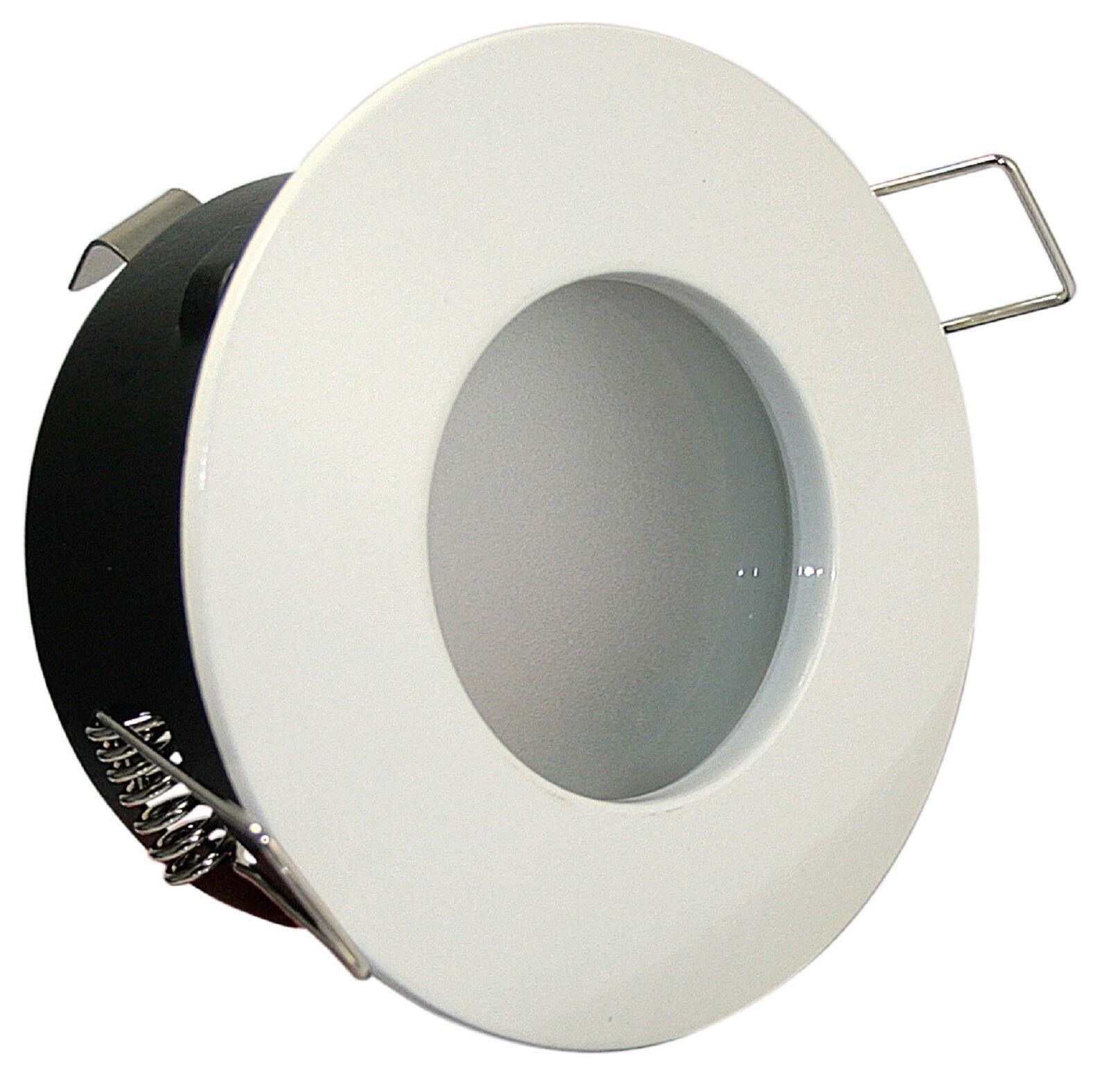 LED 230V Feuchtraum 7 Watt A+ GU10 Einbaustrahler DIMMBAR rund IP65