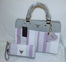 GUESS Women's  Talene Satchel matching with wallet ( grey) - NWT