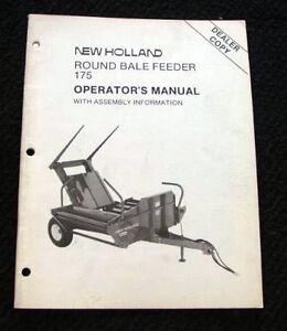 ORIGINAL-SPERRY-NEW-HOLLAND-175-ROUND-BALE-FEEDER-OPERATORS-MANUAL-NICE