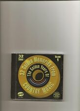 """32 GOLDEN MEMORIES FROM COUNTRY MUSIC, CD """"VARIOUS ARTISTS"""" VOL. 1, NEW SEALED"""