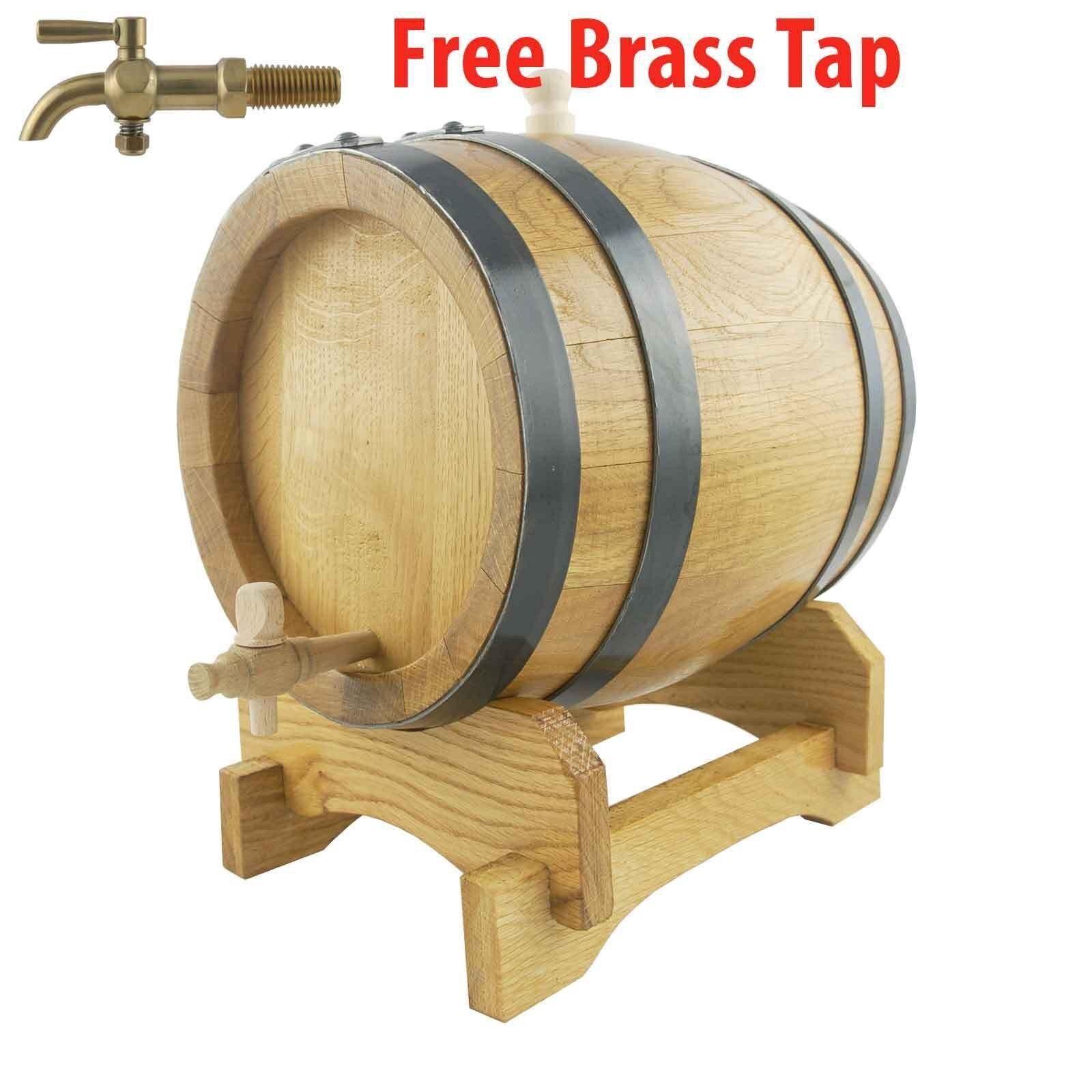 Oak Barrel 5 Lts Varnished Port Barrel Mens Gift Home Brew Whiskey Rum