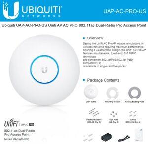 Ubiquiti-Networks-UAP-AC-PRO-US-Unifi-802-11ac-Dual-Radio-PRO-Access-Point