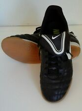 Mens Nike Tiempo Indoor Soccer Shoes Athletic Size 7.5 366206-017 Leather