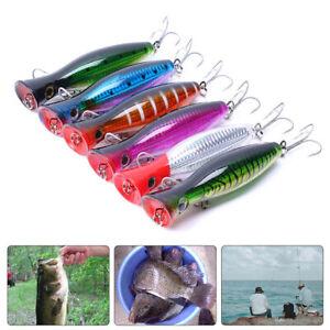 Wasser-Popper-Fischkoeder-Bass-Schwer-Bait-Lebensechter-Swimbait-Angelhaken