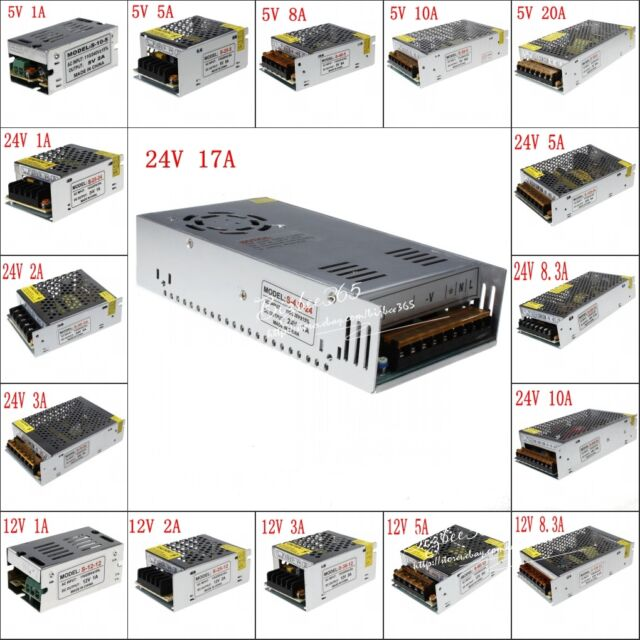 5A 10A 20A 30A 12V AC/DC Voltage Converter Regulated Switch Power Supply for LED