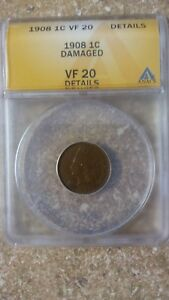 1908-P-1C-INDIAN-HEAD-PENNY-ANACS-VF-20-DETAILS-FREE-SHIPPING