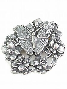 Birds-and-Blooms-Butterfly-Brooch-1998-Pin-1-034-EUC