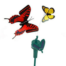 2 Solar Powered Flying Fluttering Butterflies Yellow Monarch / Red Swallowtail