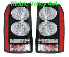BLACK LED Fanali posteriori per Land Rover Discovery 3 & 4 2014 Stile COPPIA