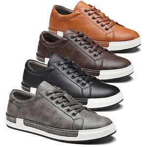 Men-039-s-Retro-Sneakers-Tennis-Swiss-Stefan-Shoes-Lace-Up-Casual-Athletic-Shoes