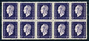 STAMP-TIMBRE-FRANCE-NEUF-N-701-bloc-de-10-timbres-MARIANNE-DE-DULAC