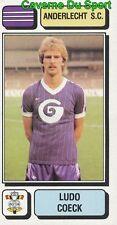 016 LUDO COECK BELGIQUE ANDERLECHT.SC STICKER FOOTBALL 1983 PANINI