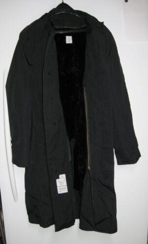US Military-Army Men's Black Raincoat Trench Coat