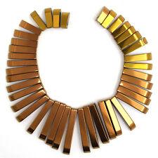 13-30mm hematite graduated stick beads pendant set copper 41 pcs