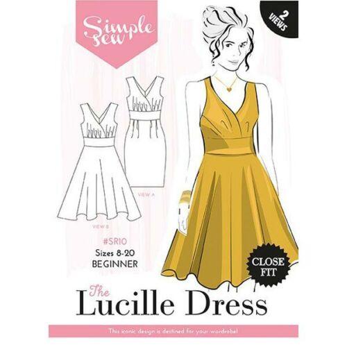 Simple Coser Sewing Pattern el Lucille Vestido