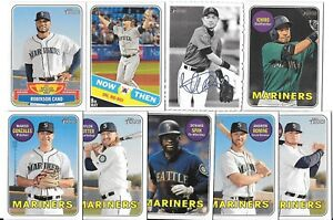 SEATTLE-MARINERS-2018-Topps-Heritage-High-Number-MASTER-TEAM-SET-w-SP-Inserts