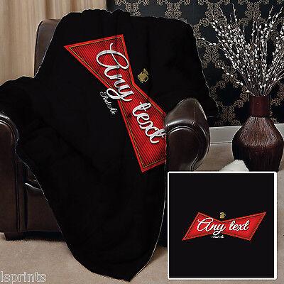 Ingenious Personalisiert Rot Bier Etikett Design Weich Fleece Decke Deckel Wurf Sofa Decke High Quality And Low Overhead Home Décor