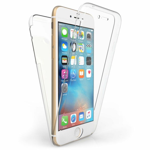 Front and Back Clear 360° Full protection Gel Cover Skin Case For iPhone 6/6S UK